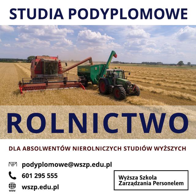 studia podyplomowe rolnictwo