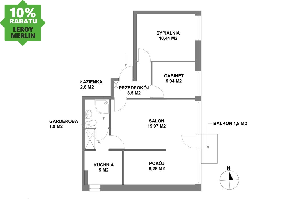 Mieszkanie Inowrocław - oferta 66446